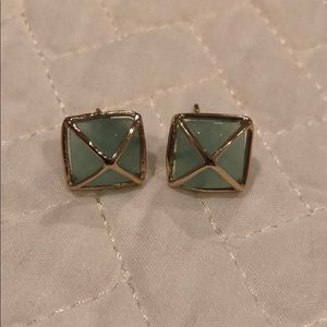 Kendra Scott turquoise and gold studs earrings